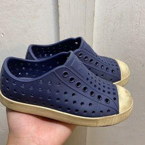 Toddler Navy Blue Native Slip ons